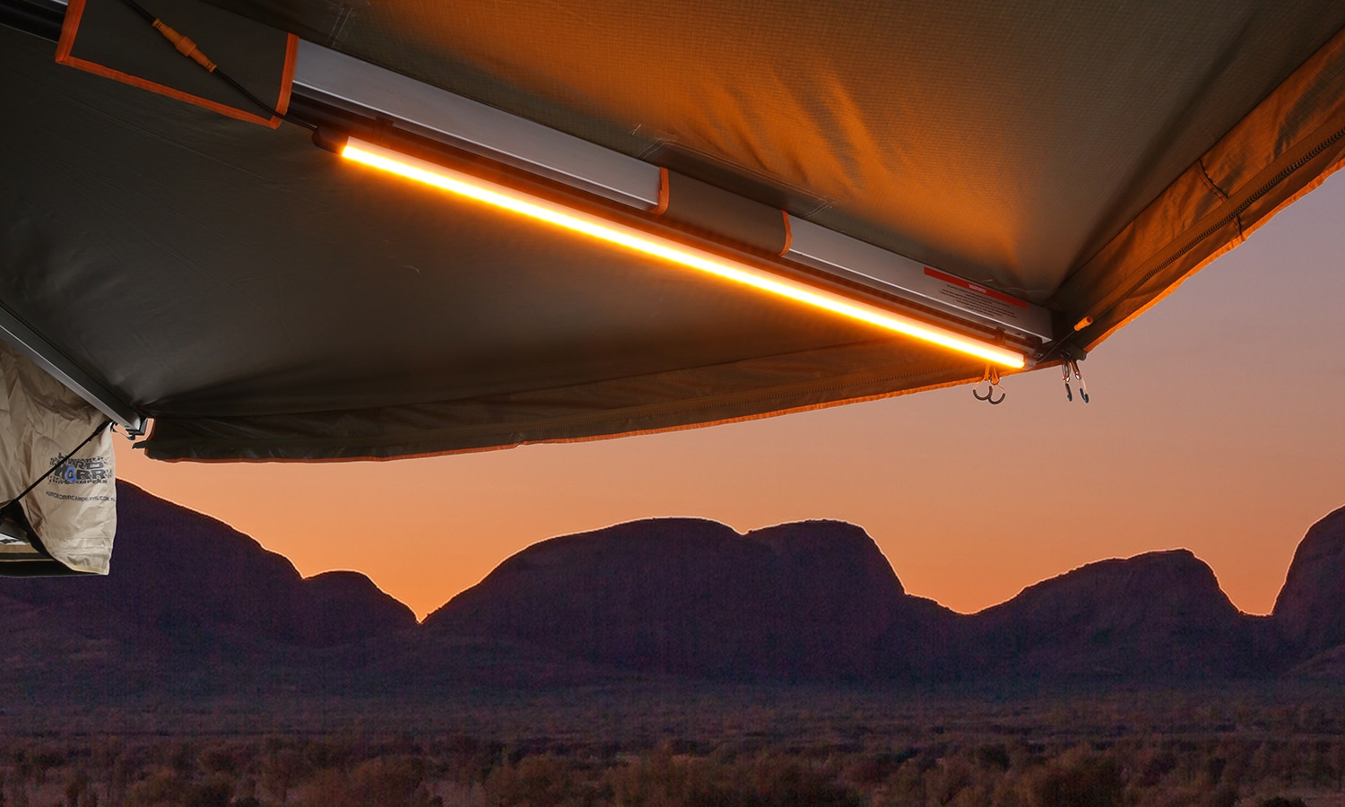 LED Camping Light 100cm Orange White with Diffuser