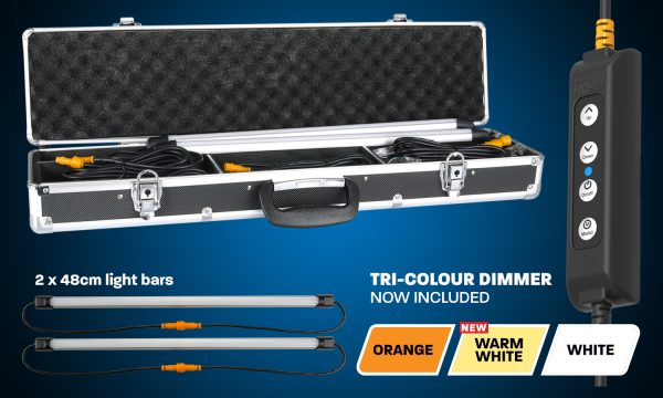 2 Bar Orange/White LED Camping Light Kit