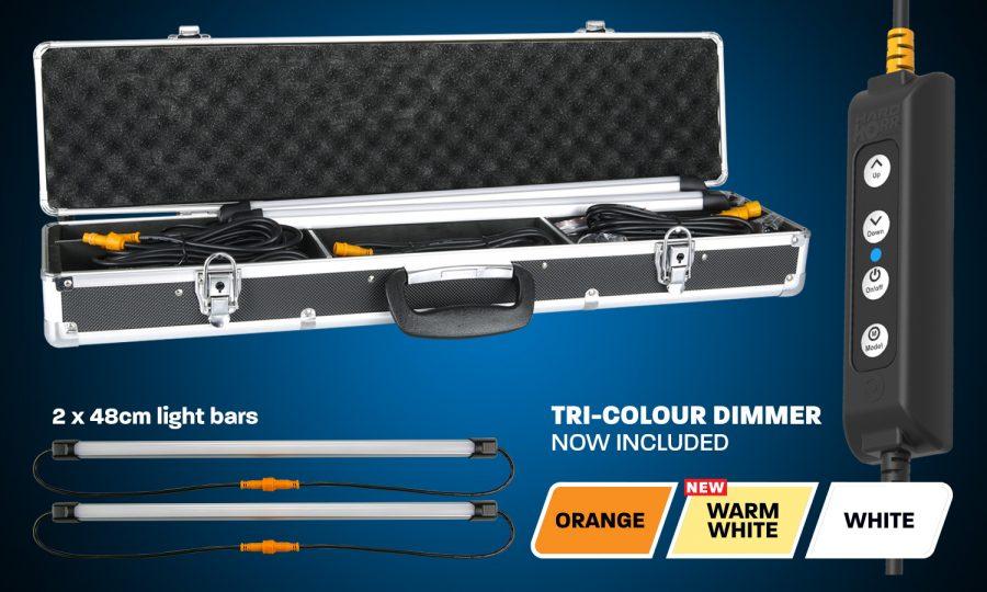 2 Bar Orange/White LED Camping Light Kit