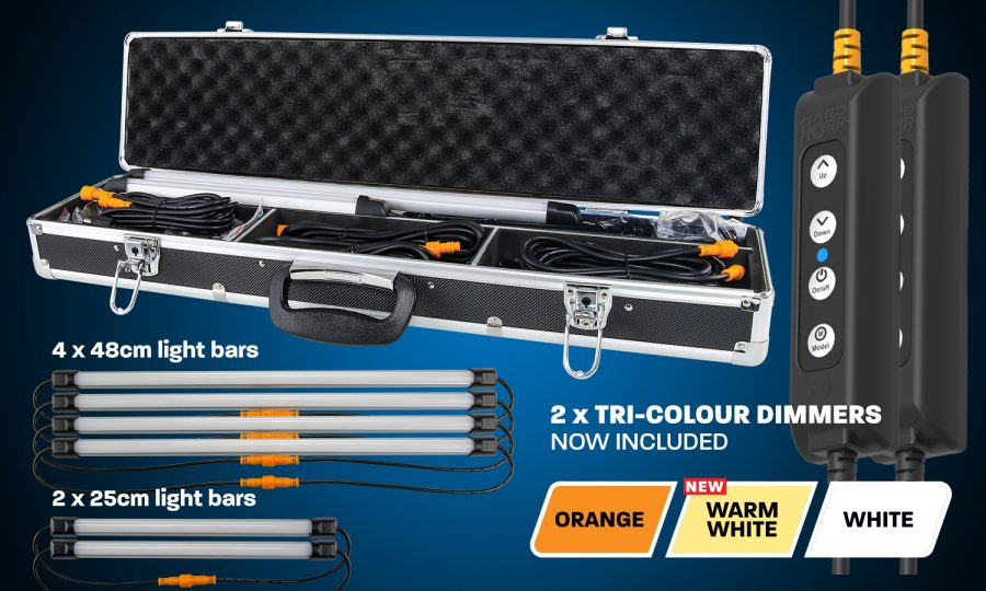 6 Bar Orange White LED Camping Light Kit