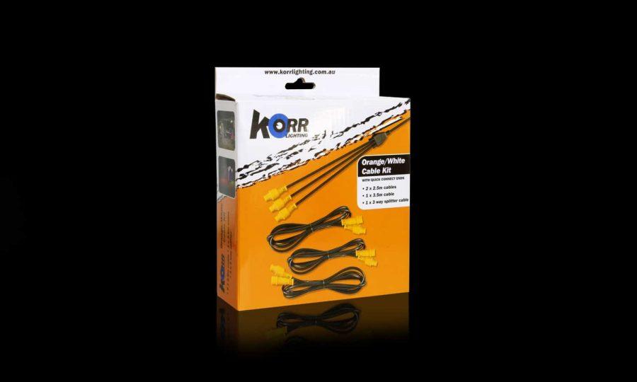 Orange/White LED Extension Cable Kit