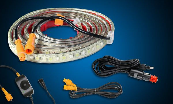 2m orange white flexible LED tape light