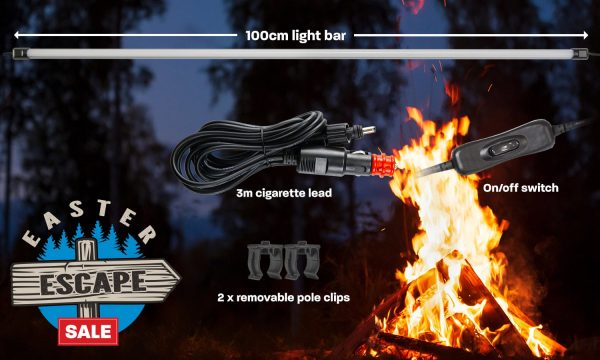 100cm (1m) LED camping light bar kit with diffuser