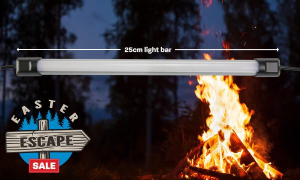 Hard Korr 25cm (0.25m) White LED Camp Light Bar