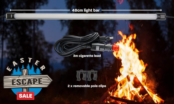 48cm White LED Camping Light Bar