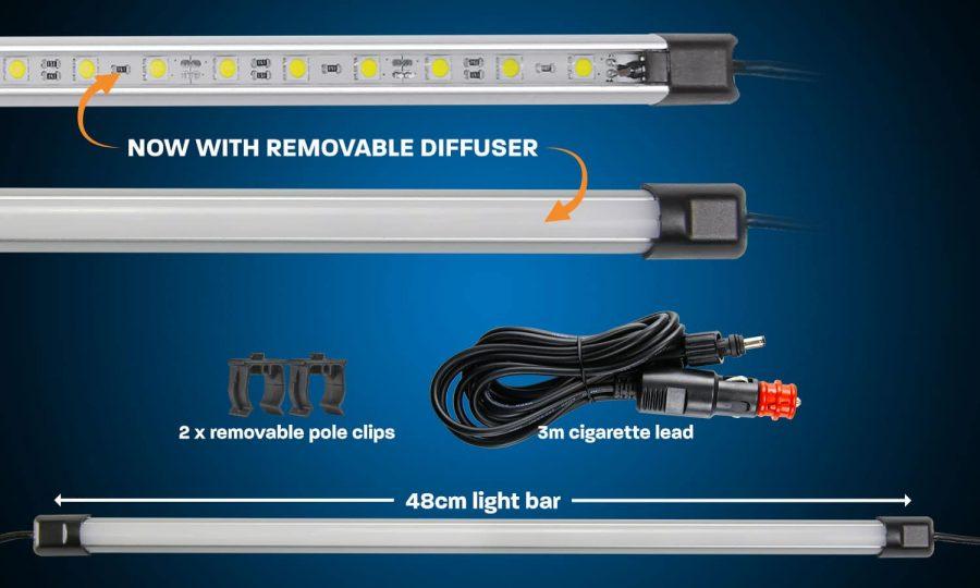 48cm White LED Camping Light Bar