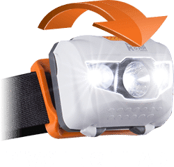 T145 head torch has a pivoting head