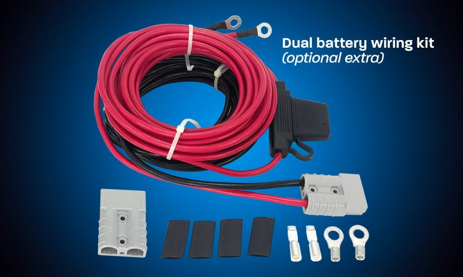 Dual battery wiring kit for battery box