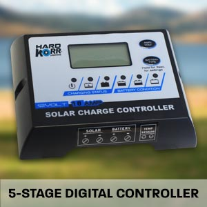 Hard Korr solar mats use a high-quality 5-stage digital controller