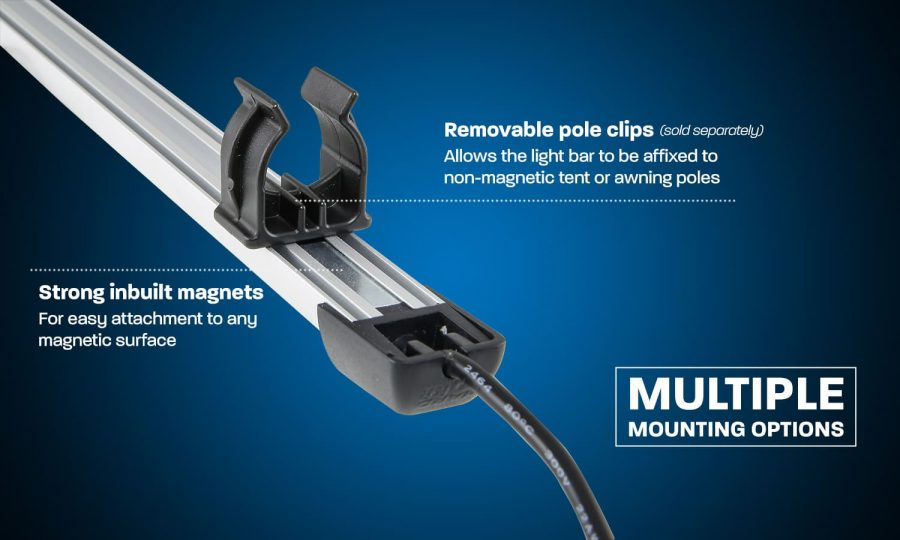Hard Korr camp light bars have multiple mounting options