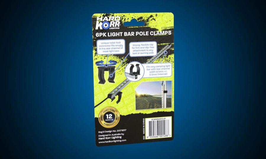 Hard Korr Camp Light Bar Pole Clamps