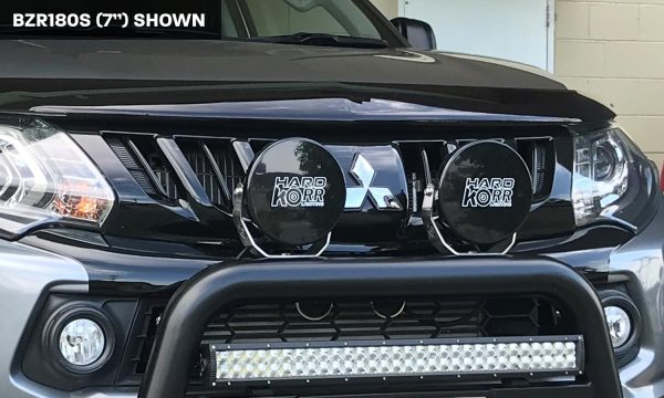 Black protective covers for BZR Series LED driving lights