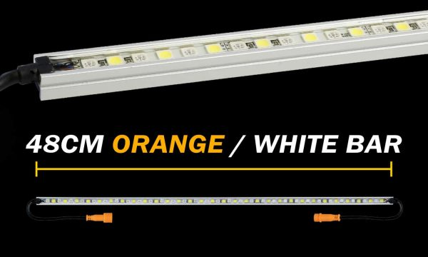 Hard Korr Lighting 48cm Orange White LED Camping Light Bar
