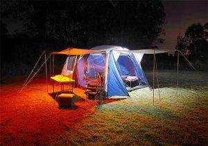 Hard Korr orange/white LED camp lighting