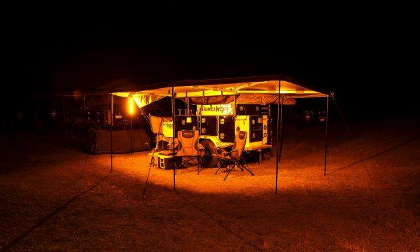 Hard Korr Lighting LED Camping Lights on Orange Setting