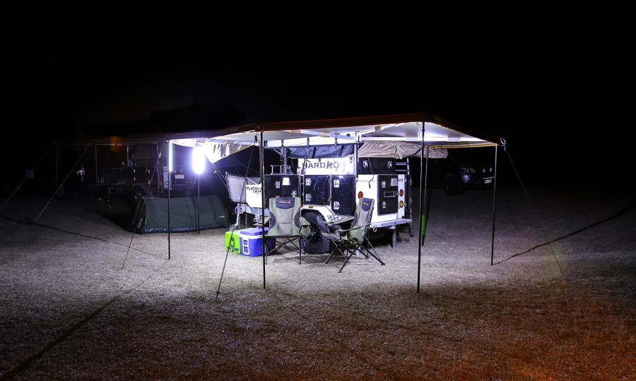 Hard Korr Lighting LED Camping Lights on White Setting