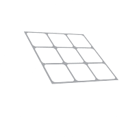 This folding solar mat has inbuilt legs