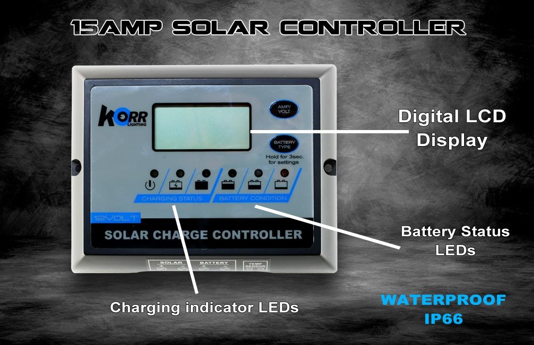 15amp Solar Controller Hard Korr Lighting