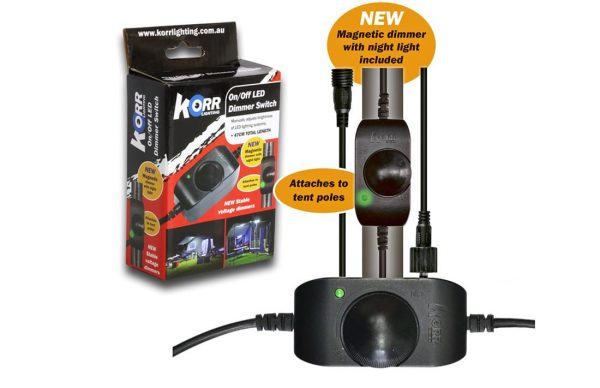 Korr dimmer switch for camping and marine light products