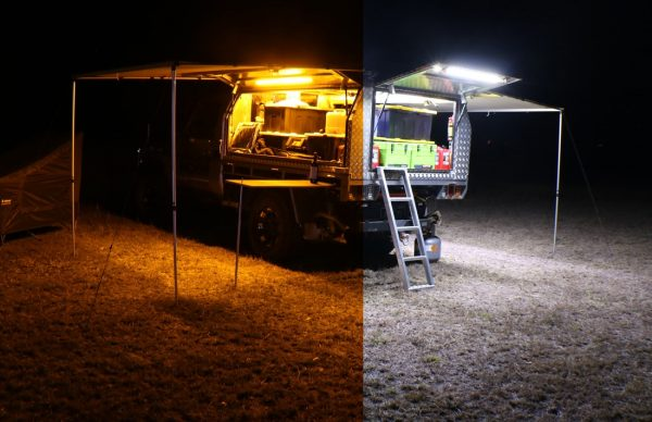 Korr Orange White Camping Light Kit In Use
