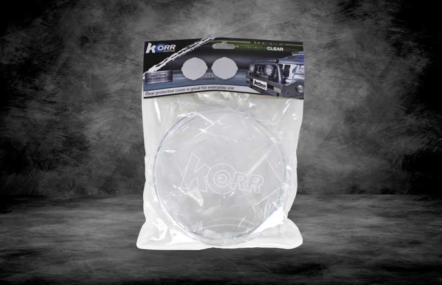Clear protective covers for Korr driving lights