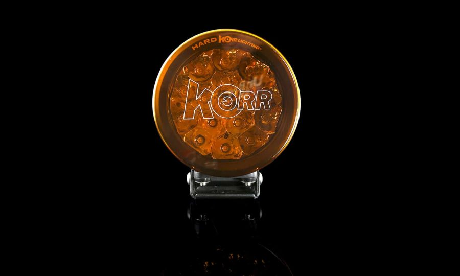 Orange protective covers for Korr driving lights
