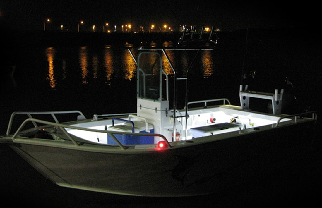 white  blue 8m led boat light kit