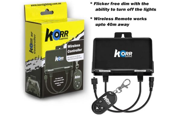 Korr wireless dimmer switch for LED lights