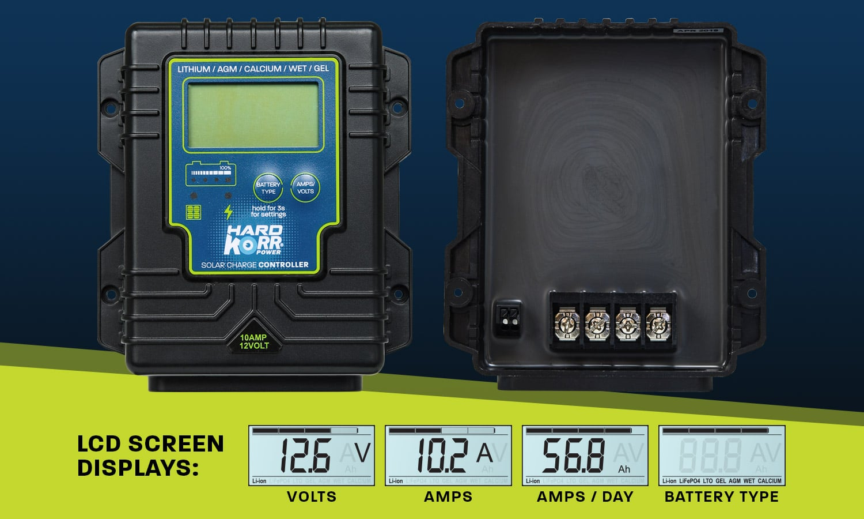 10A smart solar regulator for solar panels