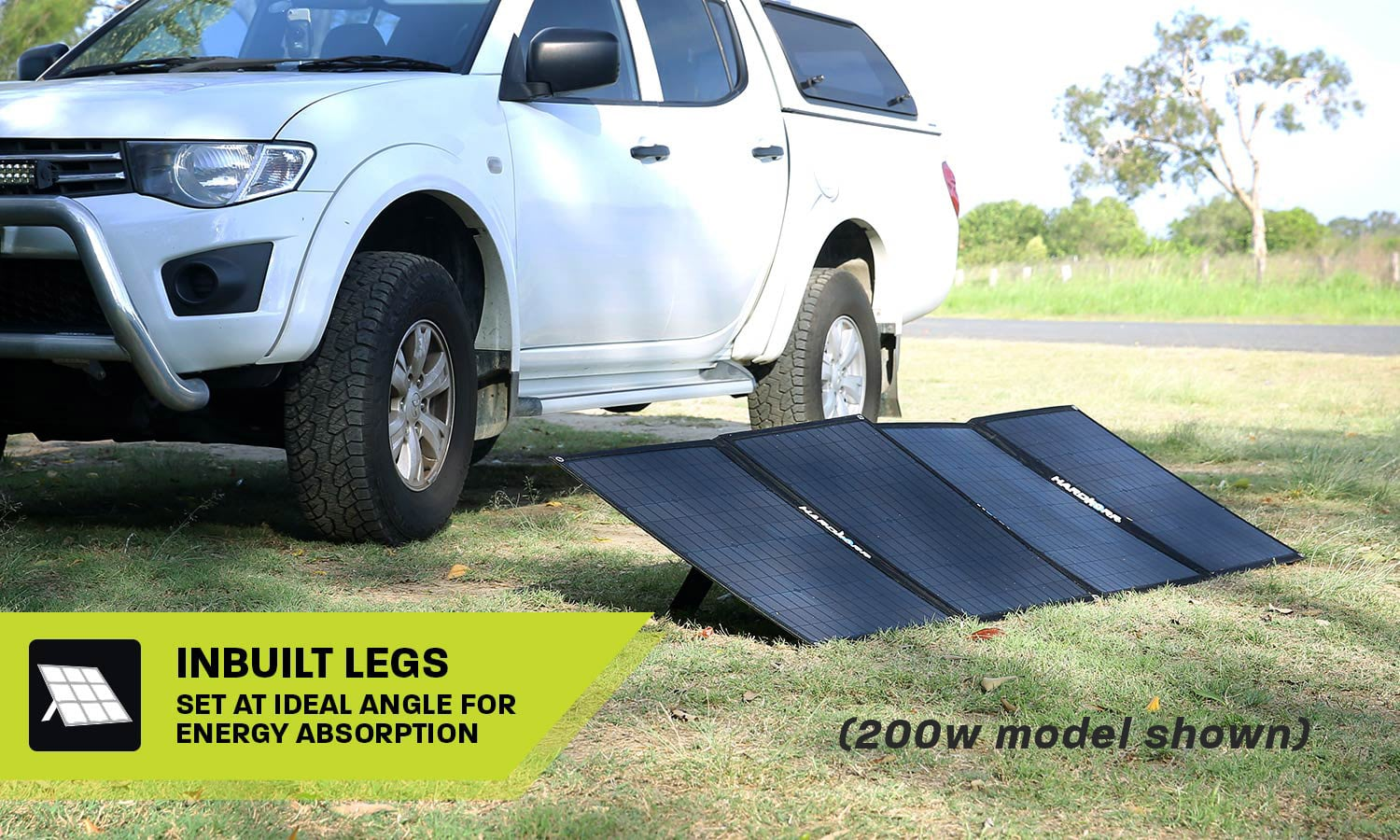 Heavy Duty Portable Solar Panels 150w Inbuilt Legs
