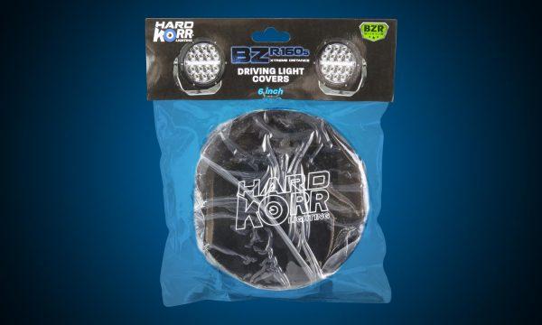 Black protective covers for Hard Korr BZR Series driving lights