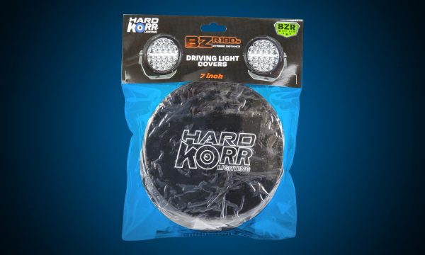 Black protective covers for 7 Inch Hard Korr BZR Series driving lights